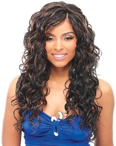 Janet Collection Noir Premium High Heat Fiber Classic Wave Weave (NEW! Synthetic Hair Extensions, Synthetic Lace Front Wigs, Wigs For Black Women, Beautiful Black Women, Human Hair Wigs, Weave Hairstyles, Lace Wigs, Hair Care, Long Hair Styles