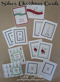 SILVER & GOLD PML   CHRISTMAS CARD WORKSKHOP   CTMH Consultant Guide available   It's  time to be thinking about Christmas cards, and the...