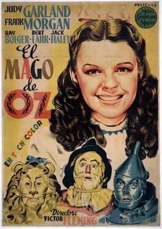 Circa 1945. Spanish Movie Poster - The Wizard of Oz