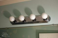 The pretty handy girl blog, totally gave me step by step to take out crappy old fixture! #homediy #homeimprovement #diy