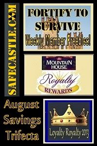 August has three simultaneous member incentive program going on at Safecastle - as well as a discount sale on top of the member discounts plus free shipping ... it's crazy!