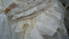 $79.00 Upcycled Bustle Ivory Cream White Mori Girl by BabaYagaFashion