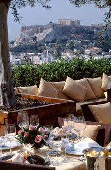 Dinner at Grande Bretagne in Athens with Acropolis View, Greece