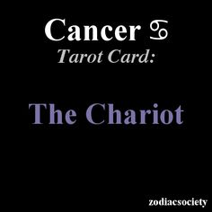 Cancer's Tarot Card: The Chariot