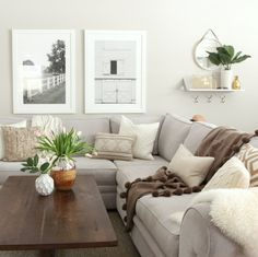 Cool Farmhouse Living Room Design Ideas - Decorating Ideas - Home Decor Ideas and Tips Modern Farmhouse Living Room Decor, Cozy Living Rooms, My Living Room, Apartment Living, Home And Living, Modern Living, Farmhouse Style, Small Living, Rustic Farmhouse