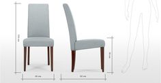 2 x Pye, chaises, gris pers | made.com