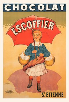 ANTIQUE CHOCOLATE POSTER - Old French Chocolate Ad - Chocolate Lover Gift…