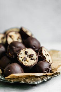 cookie dough truffles I howsweeteats.com #cookiedough #truffles #christmas #cookies
