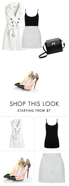 """""""Untitled #426"""" by stelastela ❤ liked on Polyvore featuring White House Black Market, M&Co, Christian Louboutin and Topshop"""