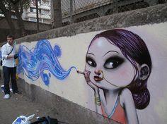 Street artist Seth Globepainter