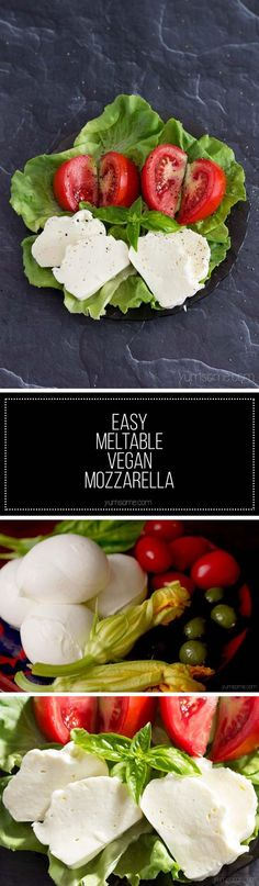 This meltable vegan mozzarella is great on pizza, in toasted sandwiches, lasagne, or anywhere else you'd normally melt mozzarella. | yumsome.com