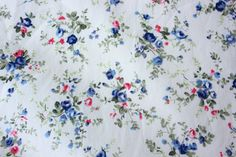 FLoral Fabric Great Flower Design 100% Cotton 1/2 Metre Very lovely and pretty Extra Wide by TwoChubbyRabbits on Etsy