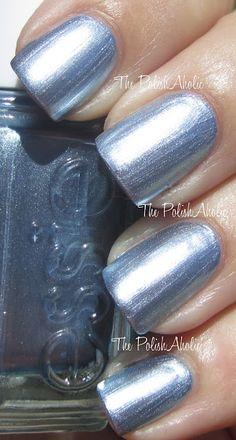 "Essie ""Blue Rhapsody""-Mirror Metallics Collection. Color: metallic; light silvery blue."