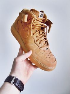"ethvnknt: Nike Air Force 1 PRM ""Flax"""