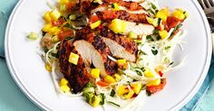 Eating healthily doesn't mean you have to miss out on your favourite foods. This recipe for jerk chicken with mango salsa is fresh and packed full of flavour, but comes in at under 300 calories. It's so good, you'll forget you're being virtuous.