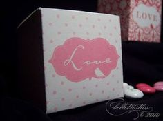 Free, Printable Boxes for Your Wedding Favors: Love Birds Printable Wedding Favor Box from Belletristics