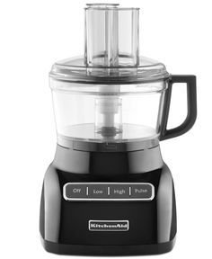 For the love of food! Designed with an adjustable slicing blade and variable speeds, this food processor delivers speed and precision to your countertop. A two-position feed tube takes on whole ingred