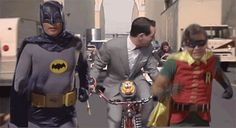 Funny Gif of 60's Batman & Robin and Pee Wee Herman ( I did not make the gif) = ON Katvena Blog About Everything TUMBLR =