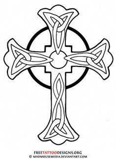 christian symbol black line art for kids | ... Tattoos | Tattoo Designs of Holy Christian, Celtic and Tribal Crosses