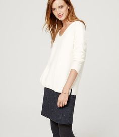 Primary Image of Relaxed V-Neck Sweater
