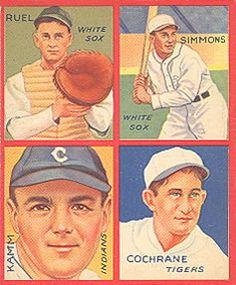 1935 Goudey 4-in-1 (R321) #24 Muddy Ruel / Al Simmons / Willie Kamm / Mickey Cochrane Front