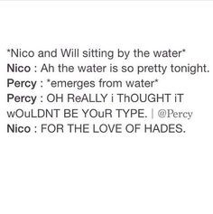"""""""For the love of Hades, Percy!"""" XD"""