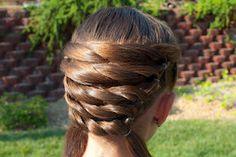 Princess Piggies: Basket Weaving, For Nadia's Hair.