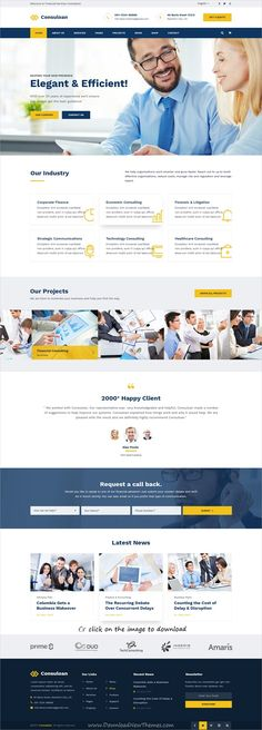 Consuloan is clean and modern design #PSD template for #business consulting and professional services website with 8 homepage layouts and 40 layered PSD pages to download click on image.