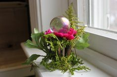 Fairy Accessories ~ Fairy Gaze Ball ~ Miniature Garden Globe with Flora by Olive, fairy houses  fairy garden, fairies, fairy furniture by OliveNatureFolklore on Etsy https://www.etsy.com/listing/259740663/fairy-accessories-fairy-gaze-ball