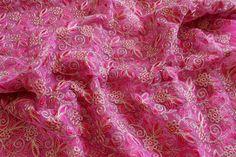 Half Yard-Pink Embroidered Net by ArtsyCraftsyDesigns on Etsy