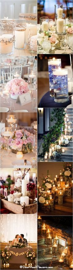 Rustic Country Wedding Ideas with Candles / http://www.deerpearlflowers.com/wedding-ideas-using-candles/