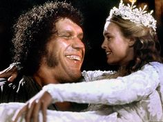 André the Giant and Robin Wright in the Princess Pride, 1987