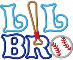 Little Brother With Baseball Applique Machine Embroidery Design NO:1290.