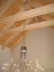 SWISSLINE DESIGN Exposed Trusses, Roof Trusses, Roof Truss Design, Light Bulb, Ceiling, Lighting, African, Google Search, Business