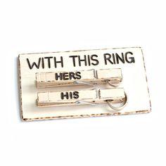Ook dit is een ringenkussentje...#leuk