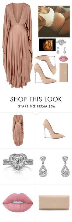 """""""Beautiful pregnancy"""" by alondra129 ❤ liked on Polyvore featuring Valentino, Casadei, Mark Broumand, Chaumet, Lime Crime and Prada"""