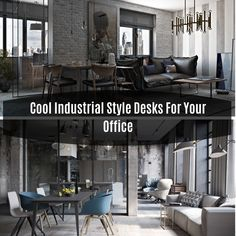 Cool Industrial Style Desks For Your Office The industrial style of decor is modern and functional. This style is a product of designers us. Diy Home, Easy Home Decor, Industrial Style Desk, Flat Shapes, Easter Bunny Decorations, Living Room, Cool Stuff, Modern, Table