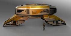 Exploration Vehicle #1 , Eric Lloyd Brown on ArtStation at https://www.artstation.com/artwork/exploration-vehicle-1-yellow