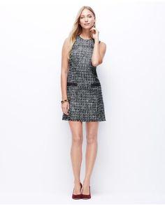 Ann Taylor | Blue Tweed Shift Dress | Lyst
