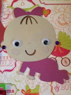 Premade Scrapbook Page  Baby Girl / I love you by mysecrethobby, $11.00