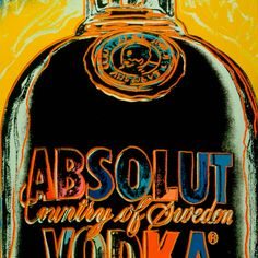 When does a well known product become art? #AndyWarhol took everyday objects, such as soup cans or soda bottles, tweaked and duplicated them to find his art.  #AbsolutWarhol