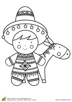 Coloring Pages Mexican Coloring 014 (Countries > Mexico
