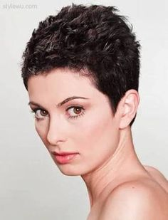 Image result for very short hairstyles for curly hair
