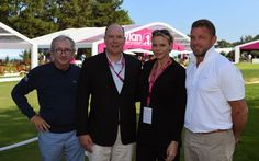 Prince Albert and Princess Charlene attended the last day of the international golf tournament in Evian les Bains.