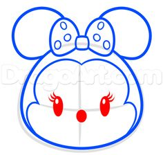 how to draw tsum tsum minnie mouse step 5