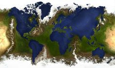This is what the world would look like if the water and land masses were inverted