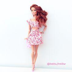 style and handmade outfit by Stellita Pinkstar  top y falda realizados a mano por Stellita Pinkstar new Barbie Fashionistas 2015