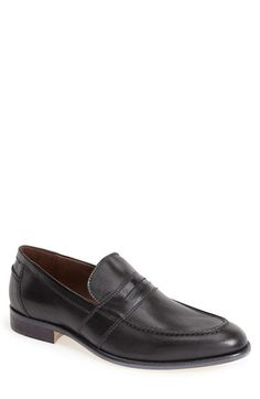 J&M 1850 'Culliver' Leather Penny Loafer (Men) available at #Nordstrom