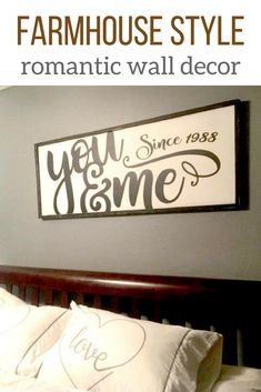 You & Me Wood Sign | Bedroom Wall Decor | Translate to Thai