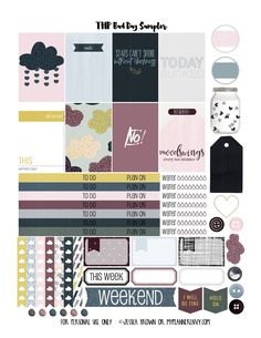 My Planner Envy: Bad Day Sampler - Free Planner Printable